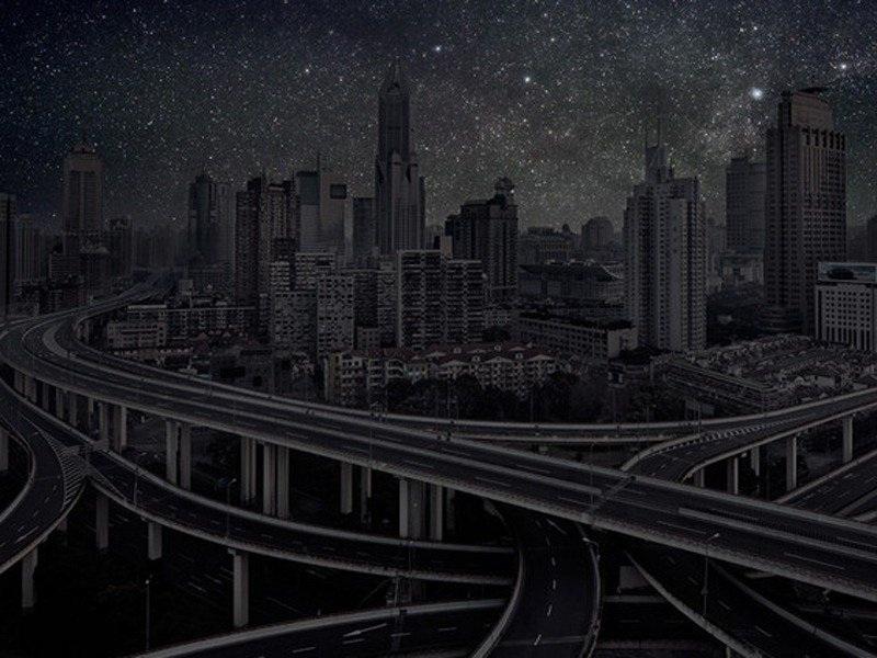 Những tuyến đường cao tốc chằng chịt ở Thượng Hải.