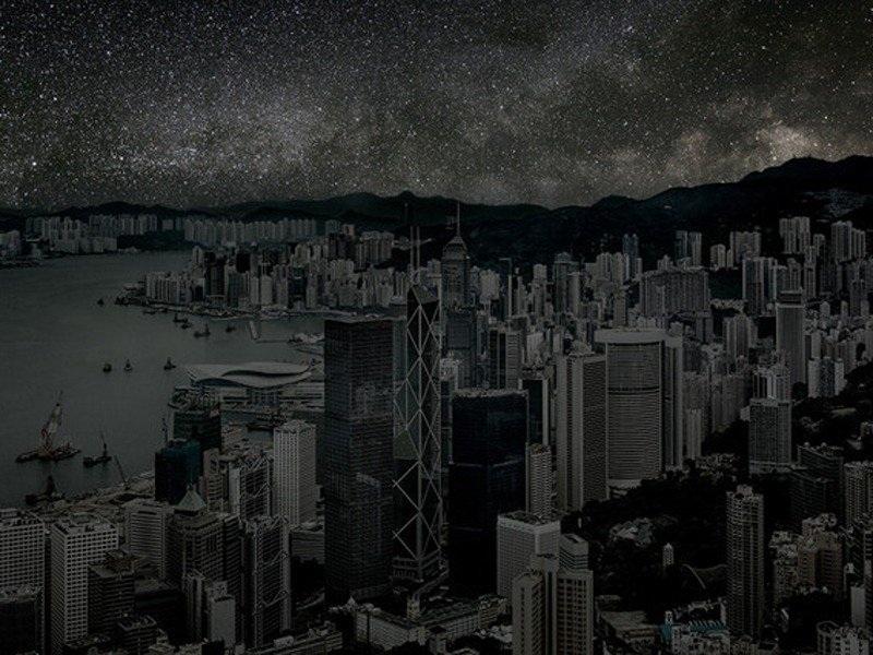 Tòa nhà cao tầng chọc trời tại Hong Kong.
