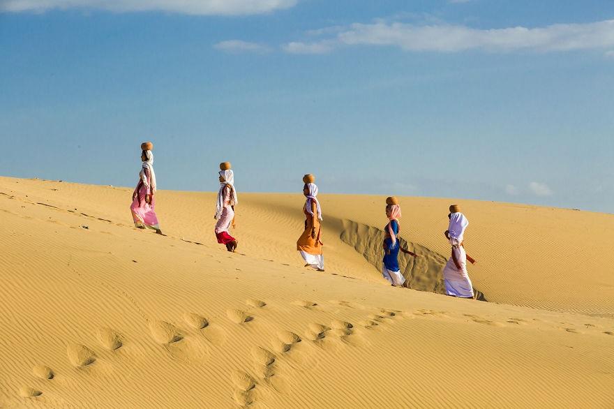 Những đụn cát trắng xóa ở Phan Rang