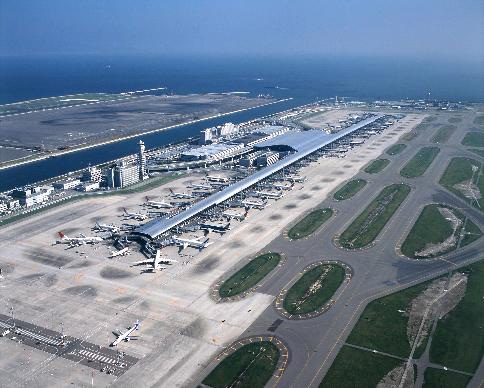 Sân bay quốc tế Kansai nằm trên một hòn đảo nhân tạo