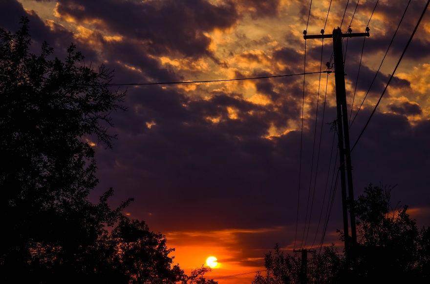 Mặt trời đỏ rực như kết thành trái tim