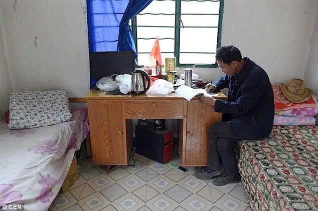 Ông Lưu đã quen sống một mình