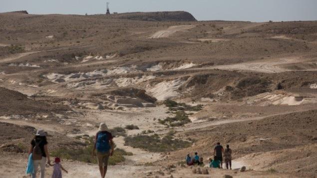 Cung đường đi bộ ở khu vực sa mạc Negew, thuộc phía nam Israel