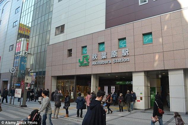 Nhà ga Akihabara ở thủ đô Tokyo, nơi xảy ra sự việc