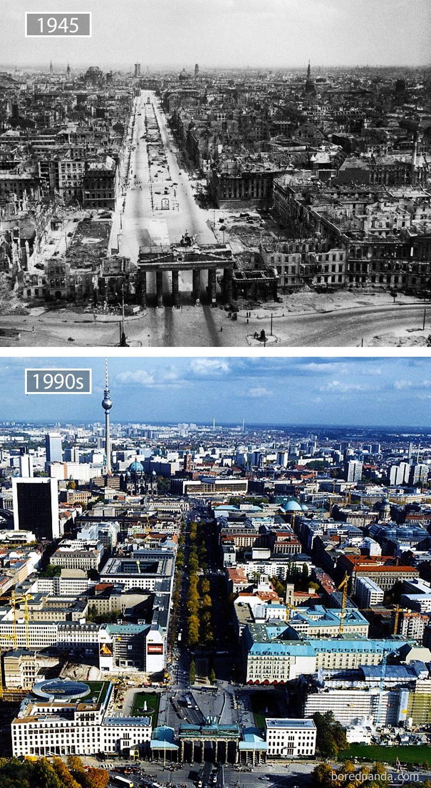 Thủ đô Berlin, Đức, năm 1945 và những năm 1990.