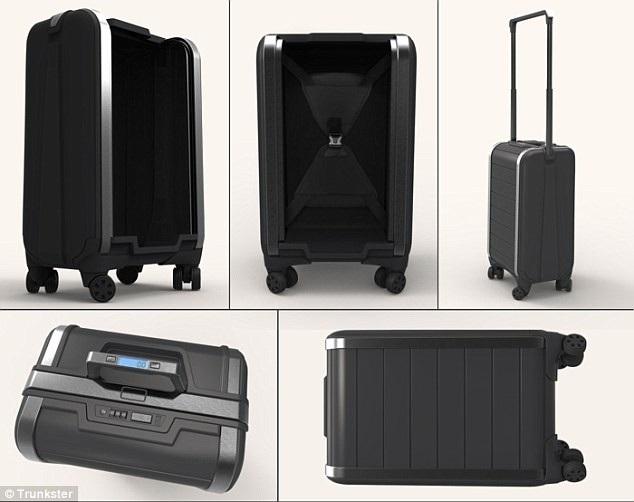 Thiết kế gọn gàng của vali thông minh