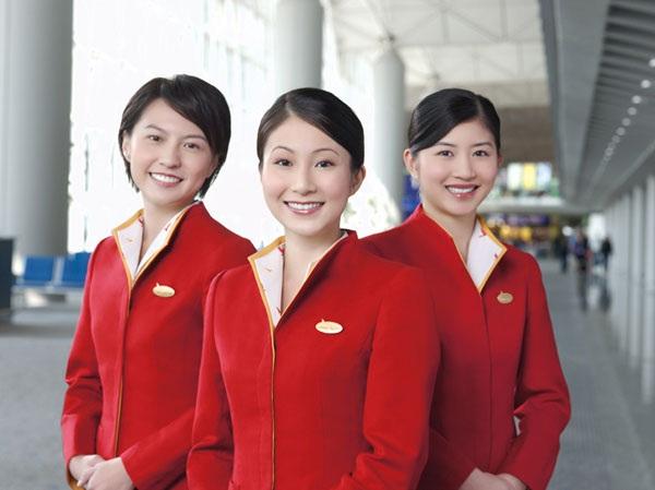 Các nữ tiếp viên của hãng Cathay Pacific.