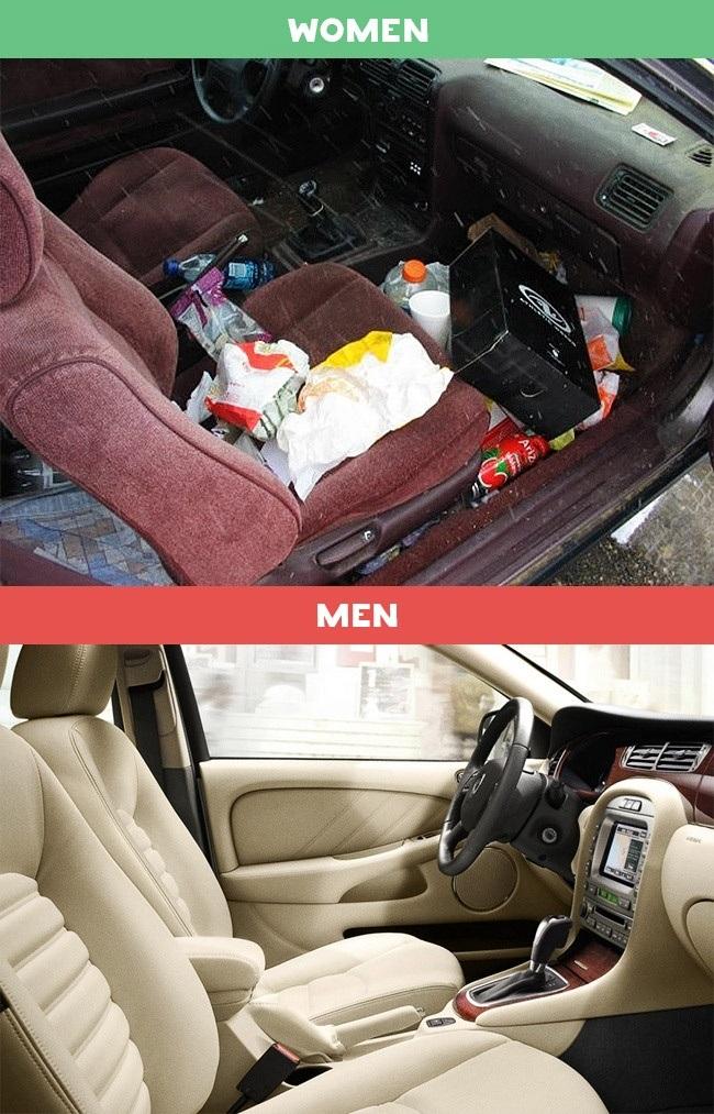 Bên trong xe riêng của mỗi người.