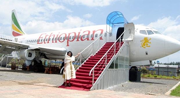 Nhà hàng máy bay ở Ethiopia
