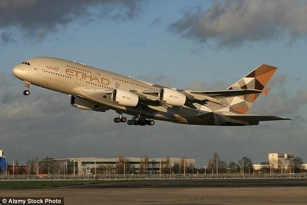 Chiếc Airbus A380 của hãng hàng không Etihad