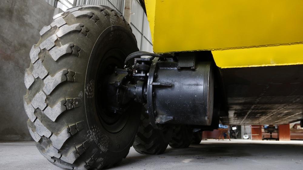 Hệ thống lốp được thiết kế hoạt độc động lập, trong trường hợp một bánh xe bị hỏng thì xe vẫn có thể di chuyển bình thường.