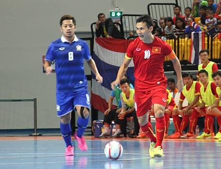 Đội tuyển futsal nam Việt Nam có thể giành vé đến VCK World Cup 2016 (ảnh: Trọng Vũ)