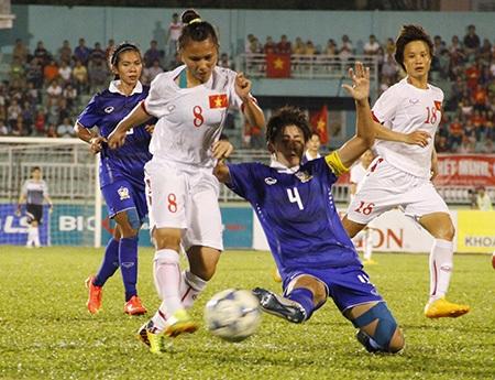 Đội tuyển bóng đá nữ dần tuột lại phía sau người Thái