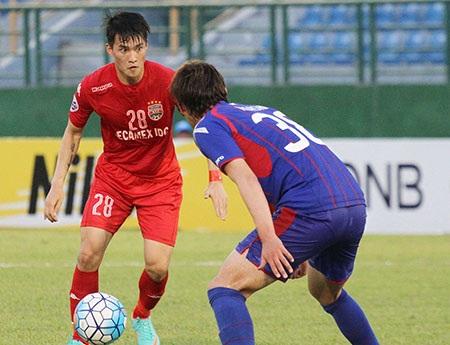 Công Vinh (28) ghi bàn... (ảnh: Nguyễn Đình)