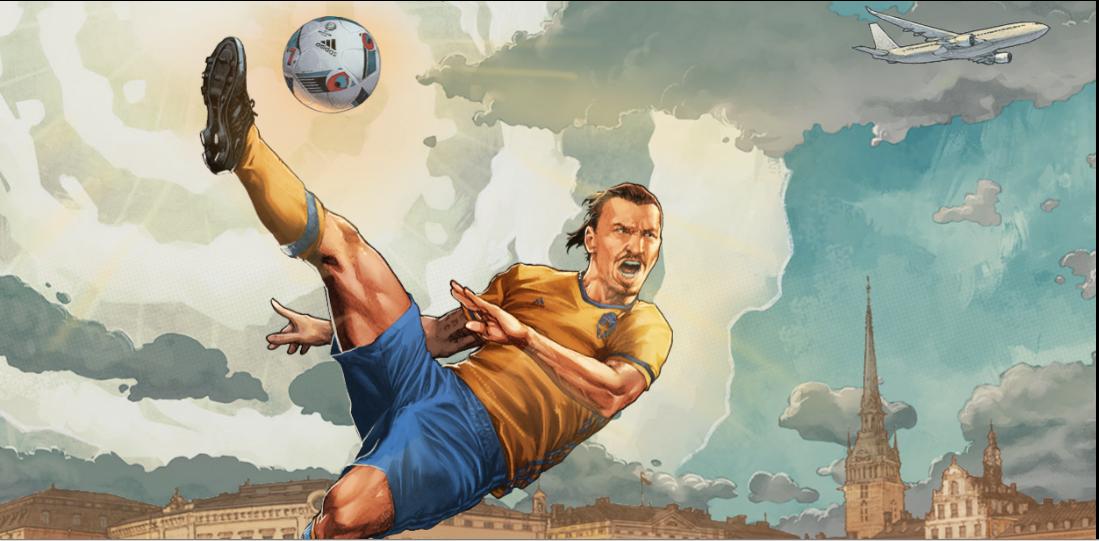 Ibrahimovic được ví với Thần sấm Thor