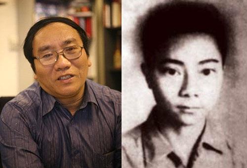 Nhà thơ Trần Đăng Khoa (trái) và Hoàng Hiếu Nhân thời được xem như một thần đồng thơ (phải)