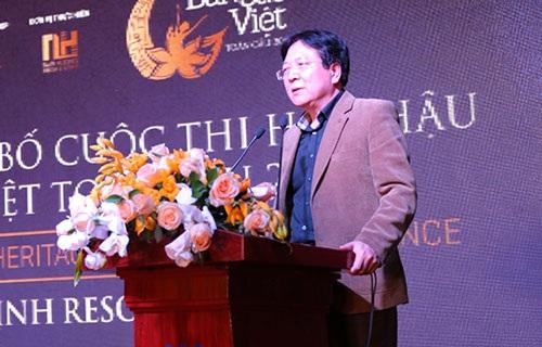ông Vương Duy Biên – Thứ trưởng Bộ Văn hóa, Thể thao và Du lịch phát biểu tại buổi họp báo
