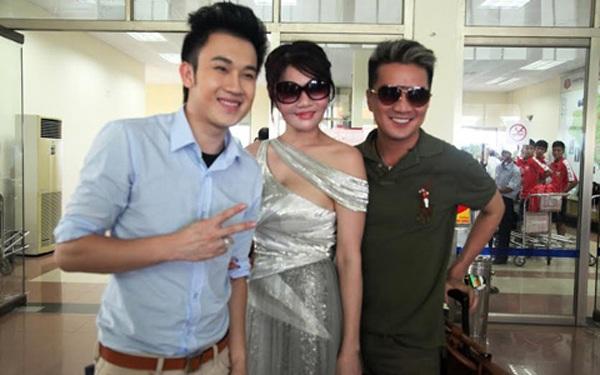 Ca sĩ Đàm Vĩnh Hưng, Dương Triệu Vũ và nữ đại gia Hà Tĩnh có mối quan hệ thân thiết (Ảnh: Ngọc Mẫn)