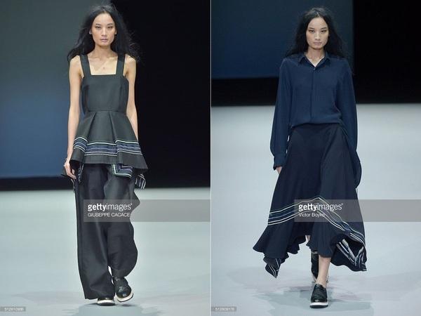 Lê Thúy xuất hiện ấn tượng trên sàn diễn của Tuần lễ Thời trang Milan 2016.