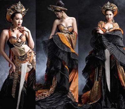 Lê Huỳnh Thúy Ngân với bộ trang phục mang hơi hướng nhân vật game online.