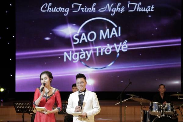 MC Lê Trinh và Lê Anh phối hợp với nhau rất ăn ý.