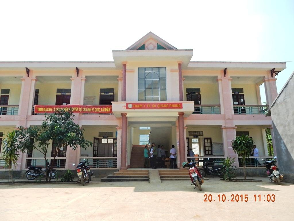 Trạm Y tế xã Quang Phong nơi xảy ra sự việc.