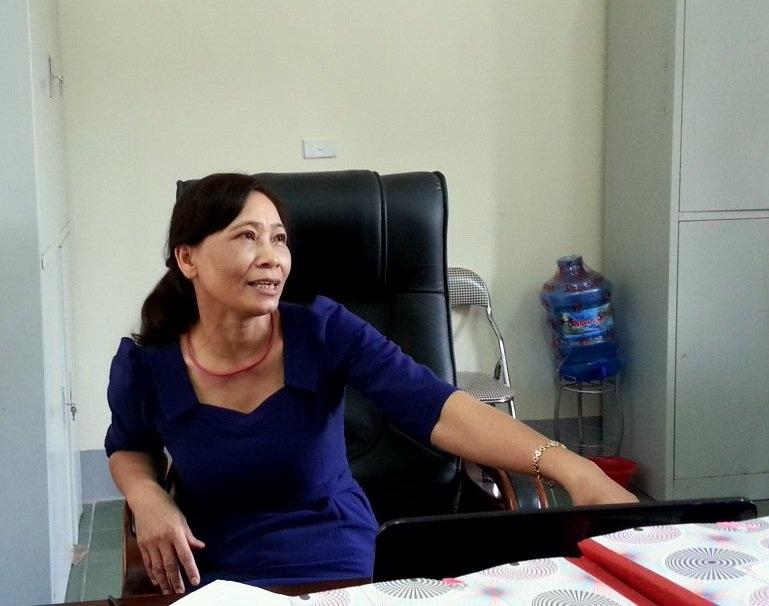 Bà Hoàng Thị Hường – Chánh thanh tra Sở LĐTB&XH Nghệ An, giám đốc trung tâm không ăn tham ô, tư lợi tiền của đối tượng.