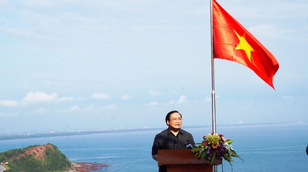 Phó thủ tướng Hoàng Trung Hải phát biểu tại buổi diễn tập.