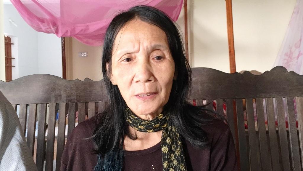 Bà Tuyết sau hai năm điều trị đã bình phục chịu mất một phần thân thể (Ảnh ghi lại ngày 28/11/2015).