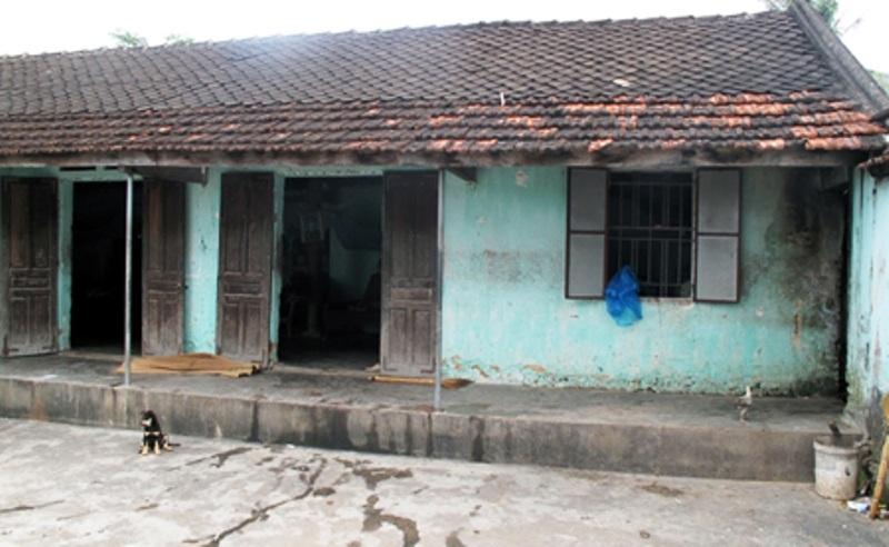 Căn nhà ông Hóa năm 2013 khi PV Dân trí tới viết bài.