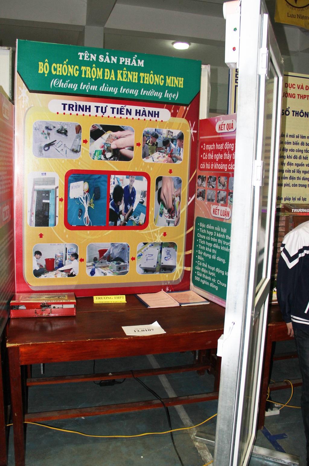 Sản phẩm chống trộm đa kênh thông minh dùng trong trường học của trường THPT Nghi Lộc 5 thiết kế.