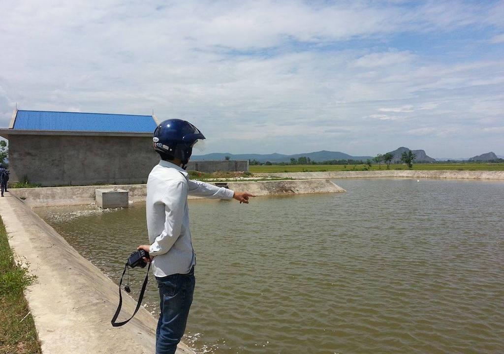 Hồ nước nơi 3 cháu nhỏ đuối nước thương tâm.