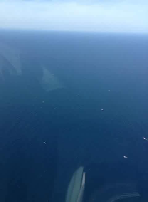Các máy may đang tổ chức tìm kiếm trên vùng biển Nghệ An (Ảnh: Trần Ngọc)