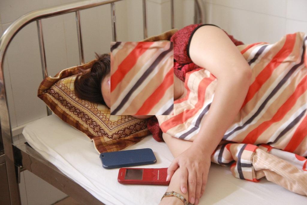Chị H. đang được điều trị tại Bệnh viện Thái An Nghệ An.