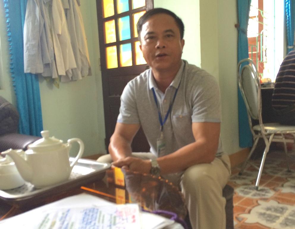 Chủ tịch UBND xã Đồng Thành - ông Thái Văn Thành cho biết: Khai thác không đúng quy trình nhưng vẫn làm.