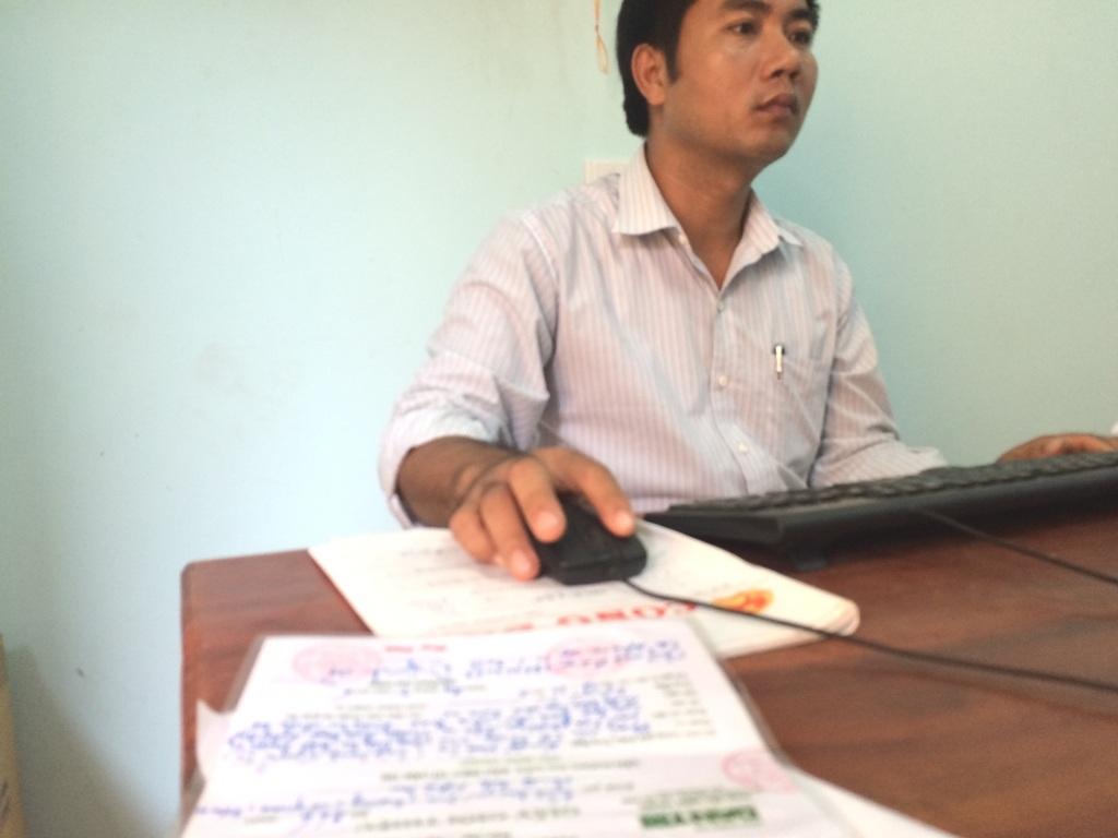 Ông Nguyễn Tiến Đồng nguyên cán bộ địa chính xã.