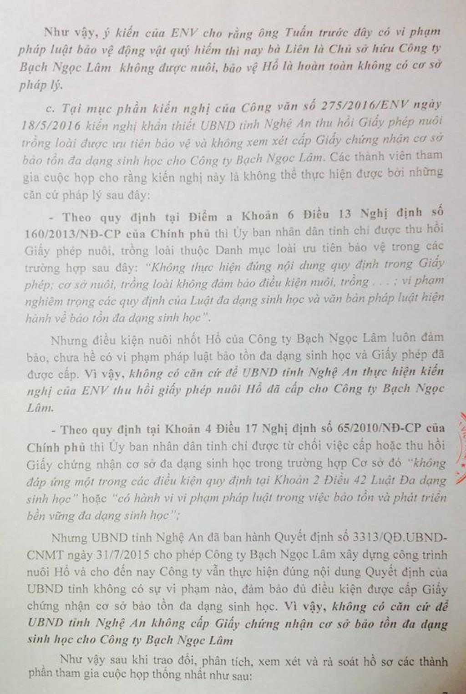Lùm xum vụ cấp phép cho doanh nghiệp nuôi hổ tại Nghệ An - 8