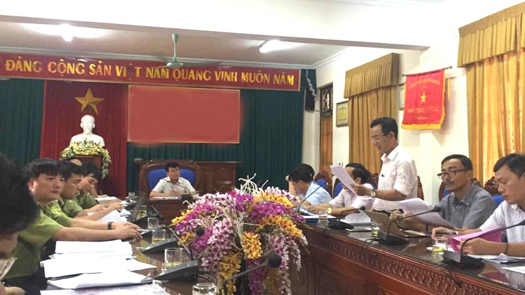 Các Sở, Ban ngành liên quan họp vụ việc ENV phản ánh. Sau cuộc họp này, các bên đã đi đến kết luận, việc UBND tỉnh cấp phép cho Cty Bạch Ngọc Lam nuôi hổ là đúng quy định của pháp luật.