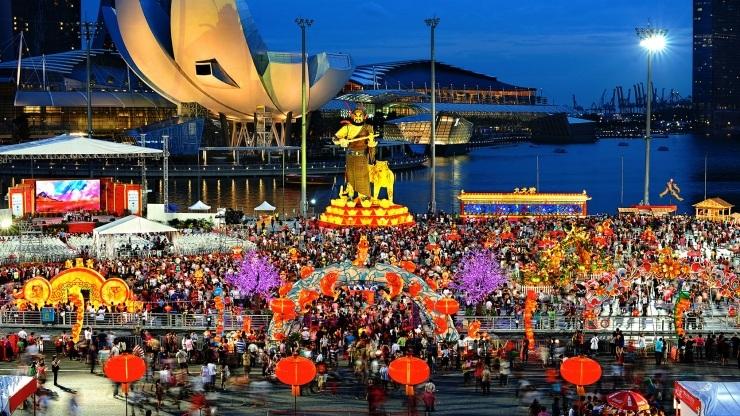 Lễ hội hoa đăng Hồng Bao trước thềm Tết Nguyên Đán của Singapore.