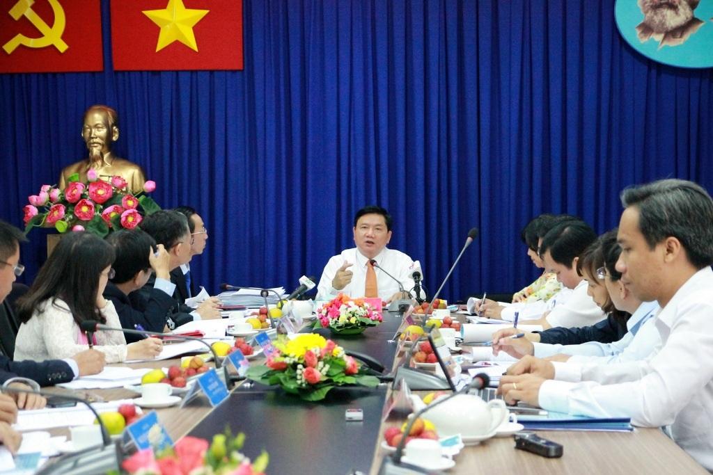 Bí thư Đinh La Thăng làm việc với Học viện Cán bộ TPHCM
