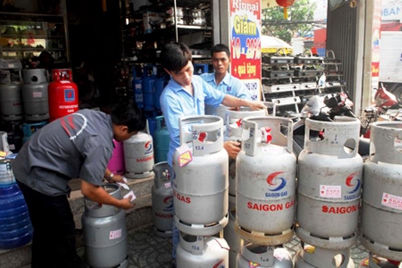 Từ 1/4, giá gas bán lẻ tại thị trường TPHCM là 268.000 đồng/bình 12kg