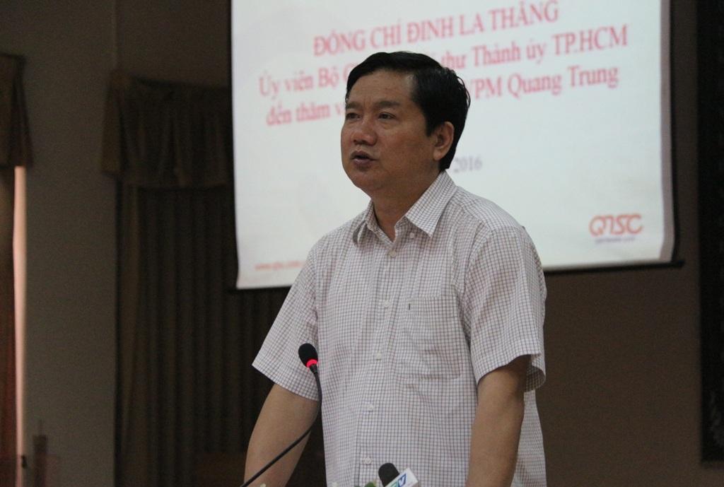 Bí thư Đinh La Thăng cho rằng cần phải có cơ chế phối hợp trong đào tạo để sinh viên ra trường là vào doanh nghiệp làm việc ngay