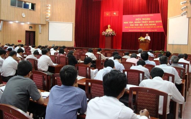 Cán bộ báo chí, xuất bản tham dự Hội nghị học tập, quán triệt Nghị quyết Đại hội XII của Đảng