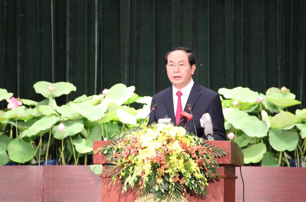 Chủ tịch nước Trần Đại Quang mong muốn TPHCM phát huy mạnh mẽ vai trò đầu tàu kinh tế của đất nước