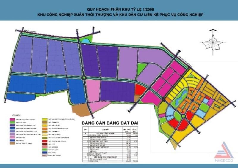 Bản đồ quy hoạch KCN Xuân Thới Thượng (Hóc Môn)