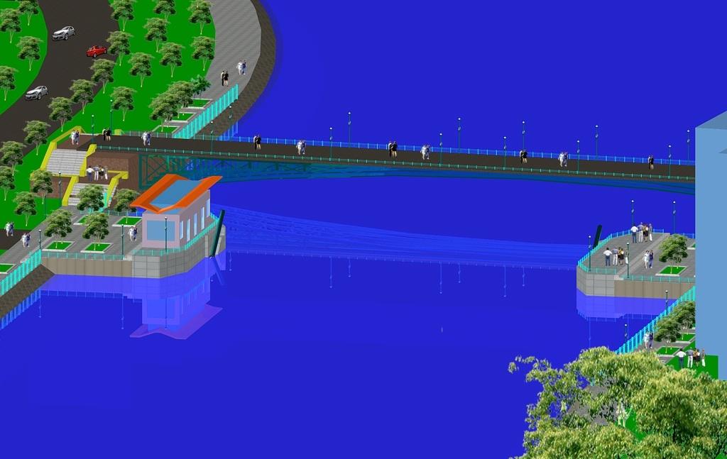 Phối cảnh một cống ngăn triều sẽ được xây dựng tại TPHCM