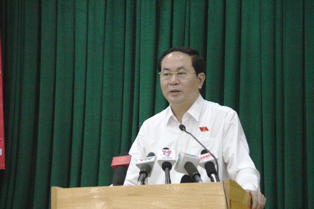 Chủ tịch nước Trần Đại Quang khẳng định các cá nhân, tổ chức liên quan đến sự cố Formosa sẽ bị xử lý nghiêm