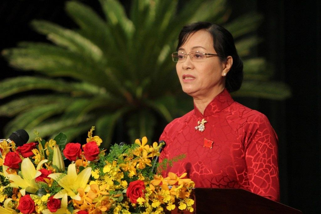 Chủ tịch HĐND TP Nguyễn Thị Quyết Tâm đề nghị đại biểu không né tránh những vấn đề cuộc sống đặt ra