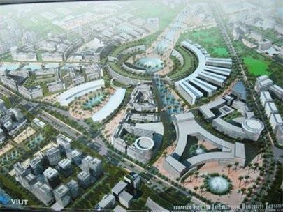 Phối cảnh khu đô thị Đại học quốc tế Việt Nam tại huyện Hóc Môn