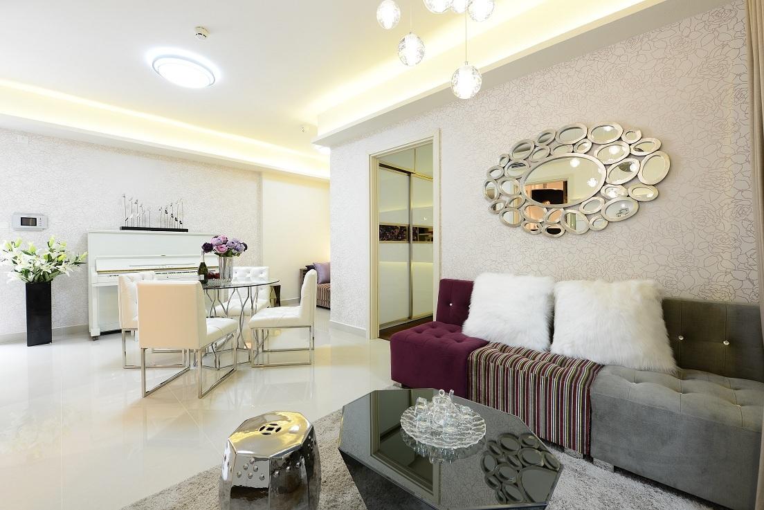 Thiết kế hiện đại bên trong căn hộ 2 phòng ngủ. Nguồn ảnh: http://chungcuseasonsavenue.com/